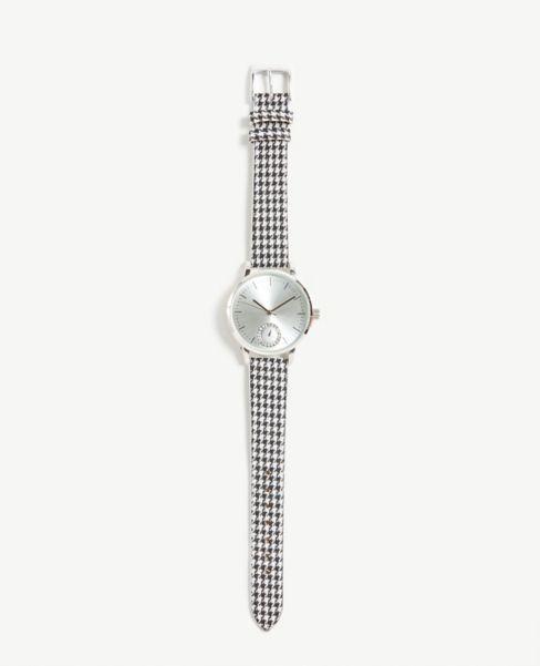 Ann Taylor Houndstooth Watch