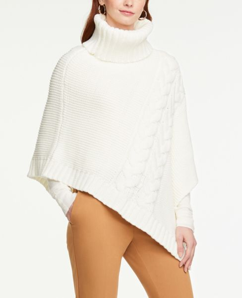 Ann Taylor Cable Poncho