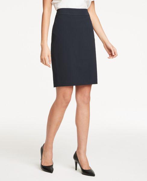 Ann Taylor Petite Pencil Skirt in Navy