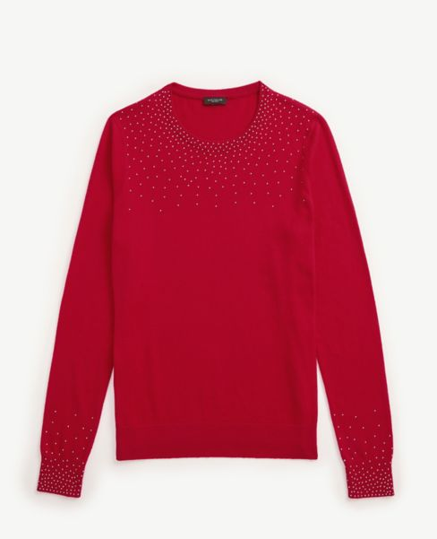 Ann Taylor Beaded Yoke Sweater