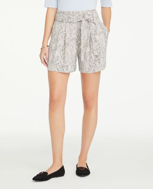 Ann Taylor Snake Print Soft Shorts