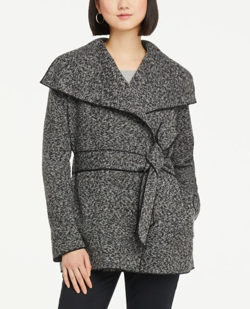 Ann Taylor Tipped Wrap Jacket