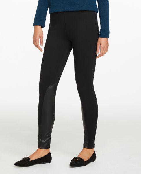 Ann Taylor Faux Leather Side Zip Leggings