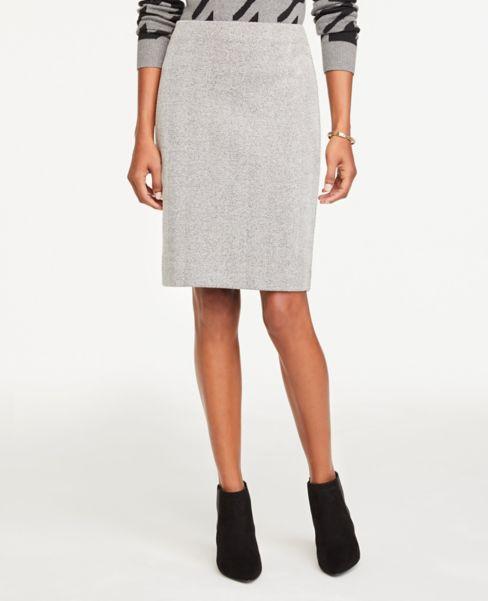 Ann Taylor Petite Herringbone Knit Pencil Skirt
