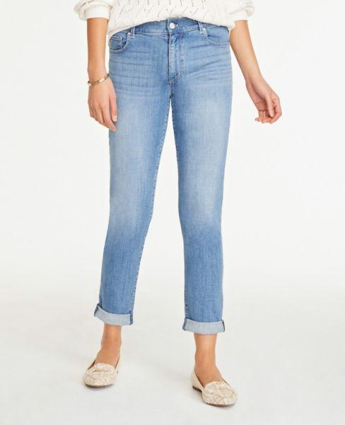 Ann Taylor Girlfriend Jeans in Authentic Light Indigo Wash