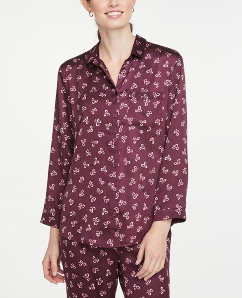 Ann Taylor Bow Pajama Top