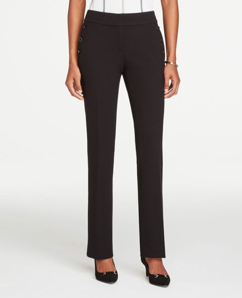 Ann Taylor Curvy Sailor Straight Leg Pants