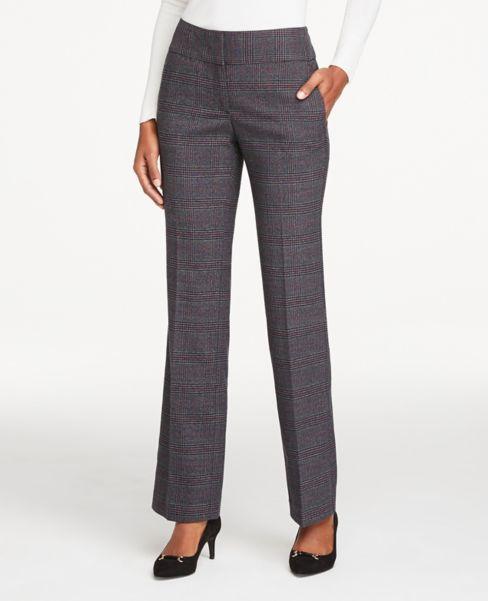 Ann Taylor Petite Curvy Plaid Trouser Pants