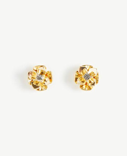 Ann Taylor Pearlized Floral Stud Earrings