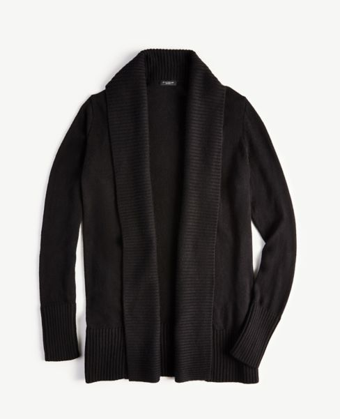 Ann Taylor Ribbed Open Cardigan