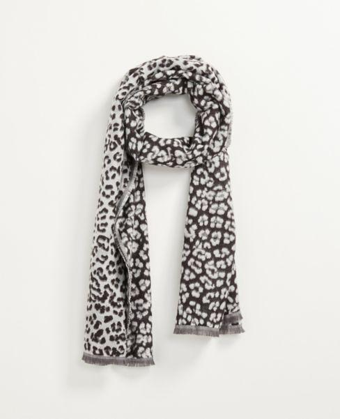 Ann Taylor Snow Leopard Scarf