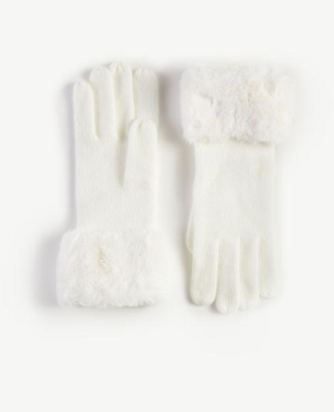 Ann Taylor Faux Fur Trim Gloves