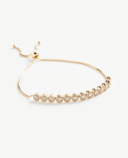 Ann Taylor Floral Pull Through Bracelet