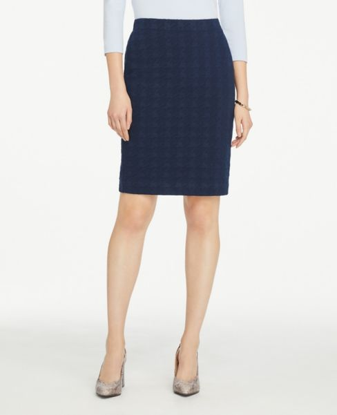 Ann Taylor Petite Houndstooth Pencil Skirt
