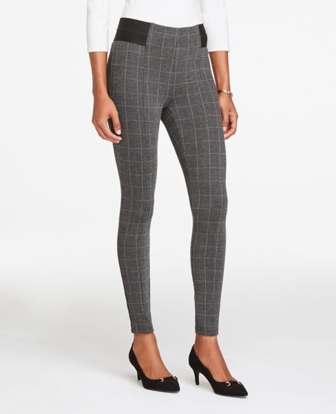 Ann Taylor Plaid Refined Leggings