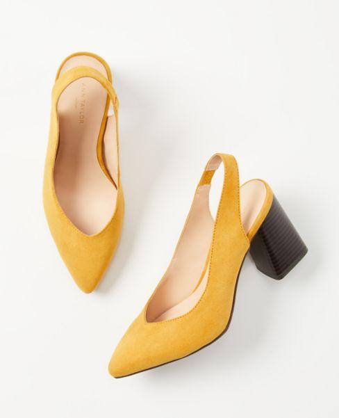 Ann Taylor Slingback Block Heels