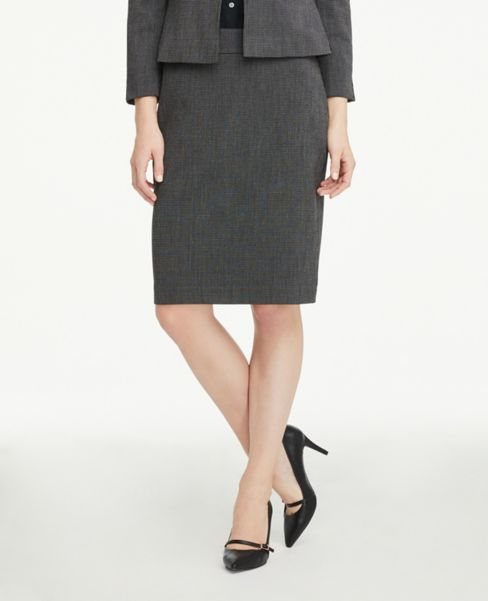Ann Taylor Pencil Skirt in Crosshatch
