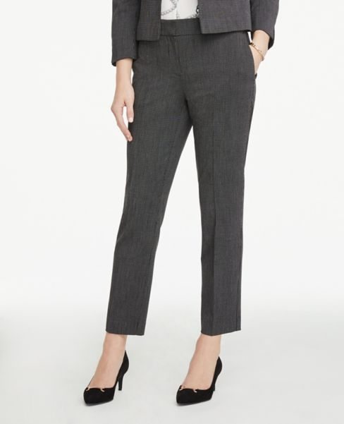 Ann Taylor Petite Signature Ankle Pants in Crosshatch
