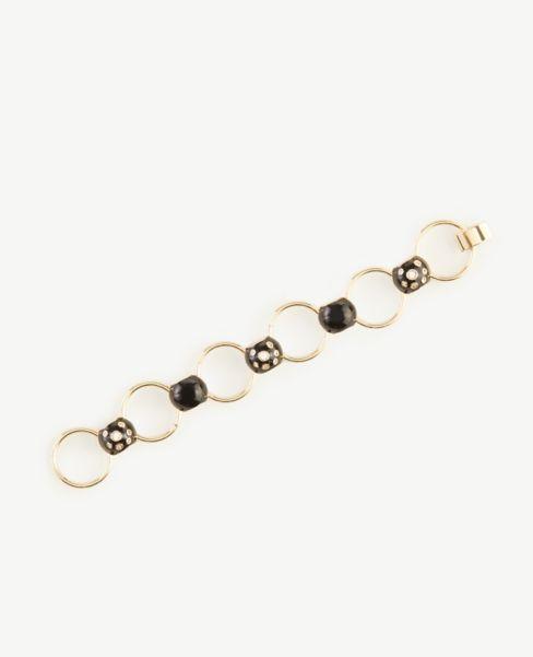 Ann Taylor Pave Enamel Linked Bracelet