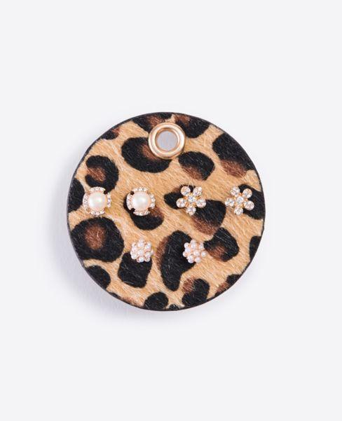 Ann Taylor Animal Print Stud Earring Set