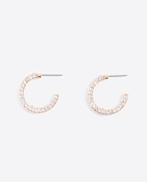 Ann Taylor Pave Mini Hoop Earring Set