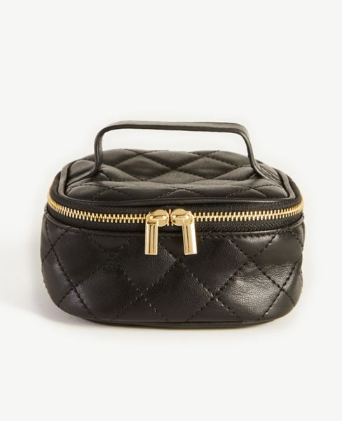 Ann Taylor Quilted Jewelry Case