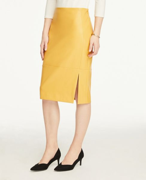 Ann Taylor Faux Leather Pencil Skirt