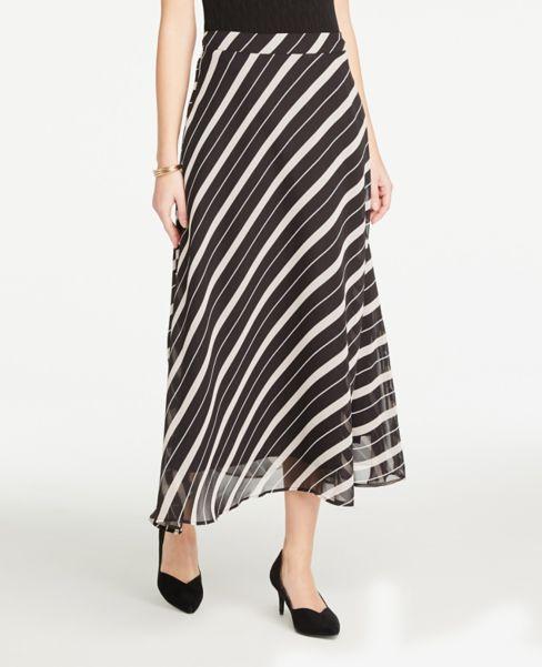 Ann Taylor Striped Maxi Skirt