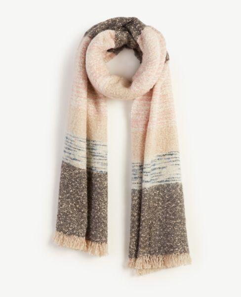Ann Taylor Spacedye Striped Blanket Scarf
