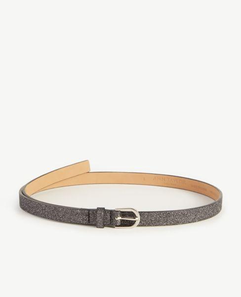 Ann Taylor Glitter Skinny Belt