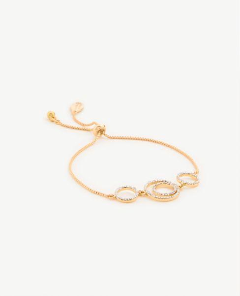 Ann Taylor Pave Circle Pull Through Bracelet
