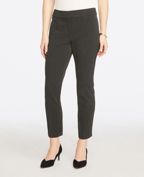Ann Taylor Dotted Ankle Pants