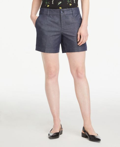 Ann Taylor Polished Denim Shorts with 6 Inch Inseam