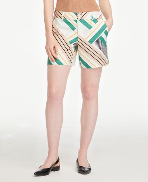 Ann Taylor Textured Shorts with 6 Inch Inseam