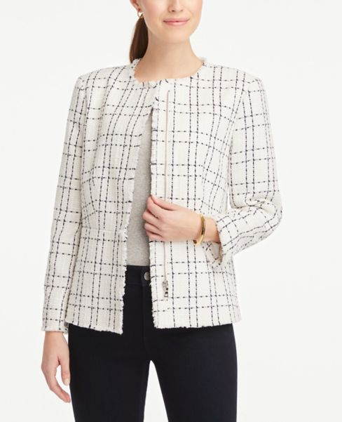 Ann Taylor Peplum Zip Jacket