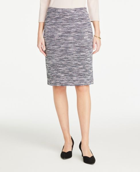 Ann Taylor Multicolored Tweed Pencil Skirt