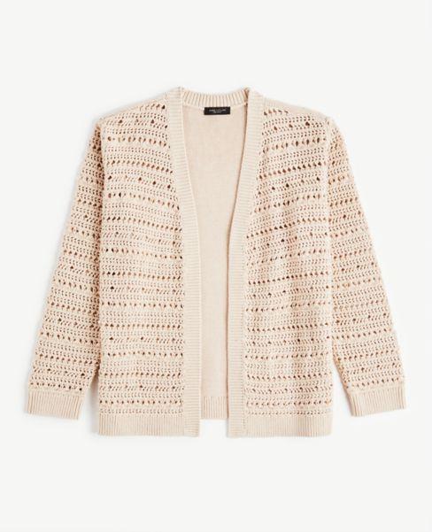 Ann Taylor Crochet Sweater Jacket
