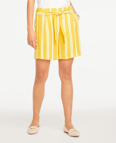 Ann Taylor Striped Tie Waist Shorts