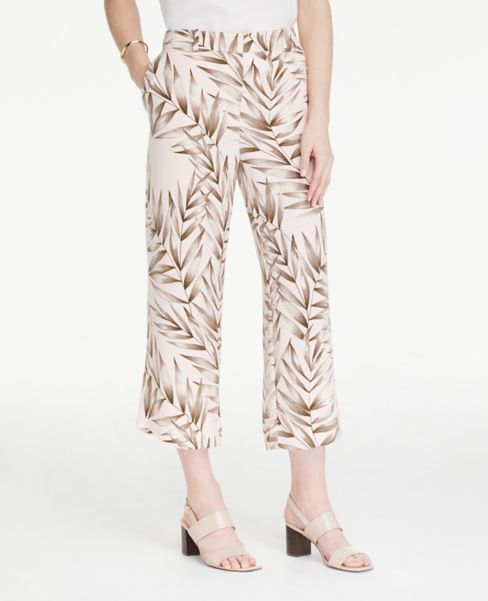 Ann Taylor Leafed Drapey Pants