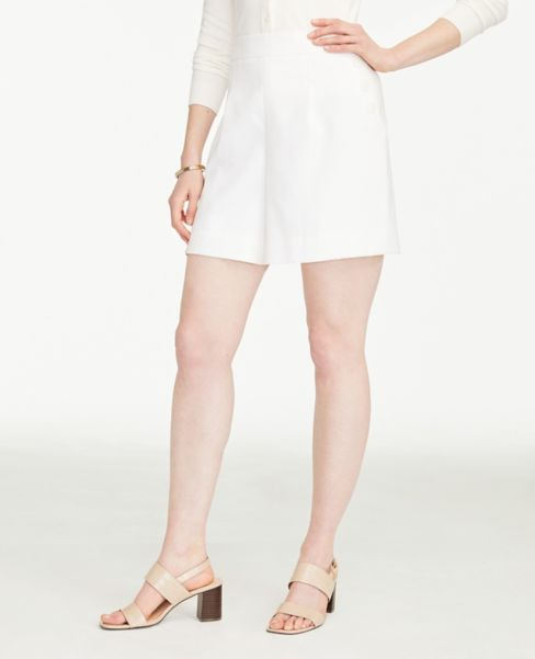 Ann Taylor Side Button Drapey Shorts