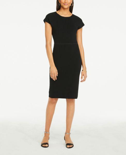 Ann Taylor Refined Knit V-Back Dress