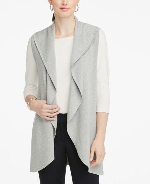 Ann Taylor Draped Sweater Vest
