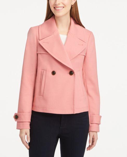 Ann Taylor Short Trench Coat