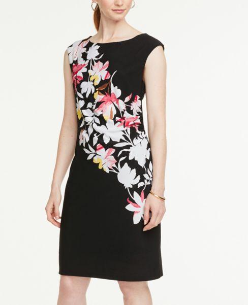 Ann Taylor Petite Placed Floral Sheath Dress
