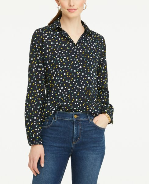 Ann Taylor Constellation Lightweight Button Down Shirt