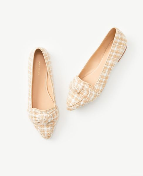 Ann Taylor Knotted Pointy Toe Loafers