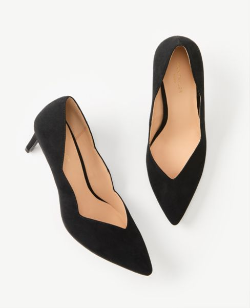 Ann Taylor Scalloped Pumps