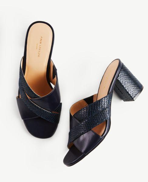 Ann Taylor Criss Cross Block Heels