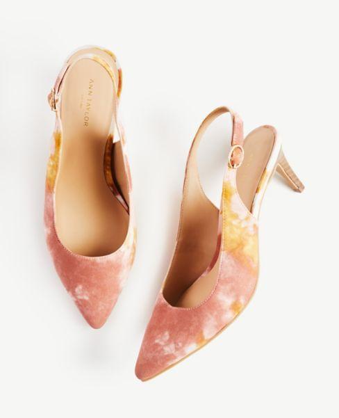 Ann Taylor Slingback Kitten Heels