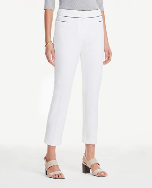 Ann Taylor Curvy Tipped Ankle Pants